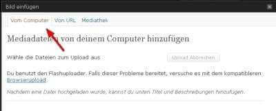 Bild - Screenshot Bildupload 2