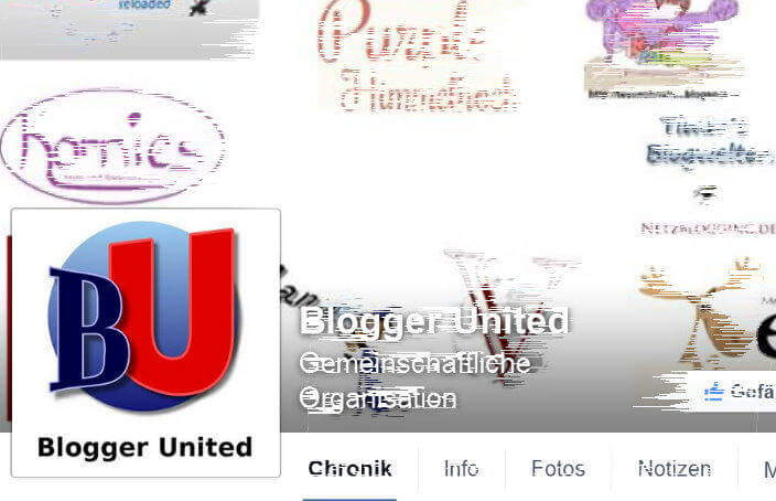 Blogger United Facebookseite